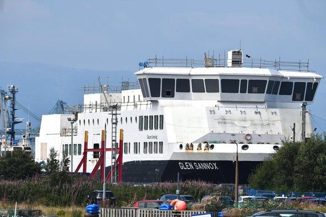 Glen Sannox i jego siostrzany prom są budowane w stoczni Ferguson w Port Glasgow.  Zdjęcie: John Devlin