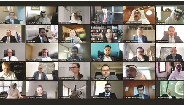 The QBA has organised the Qatari-Polish business meeting, through video conferencing, to discuss eco