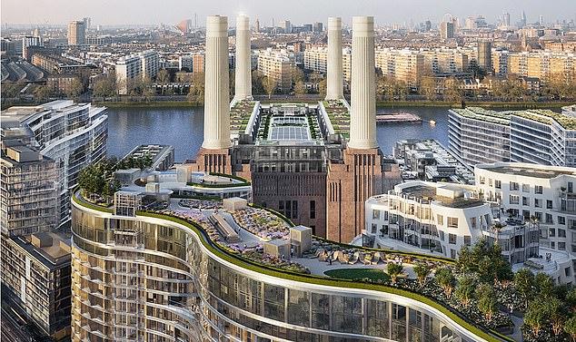 Apartamenty w starej elektrowni Battersea w południowo-zachodnim Londynie