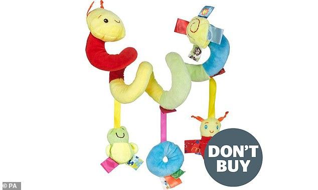 Wish Caterpillar Bed Toy, jedna z zabawek, o których firma ostrzegała rodziców