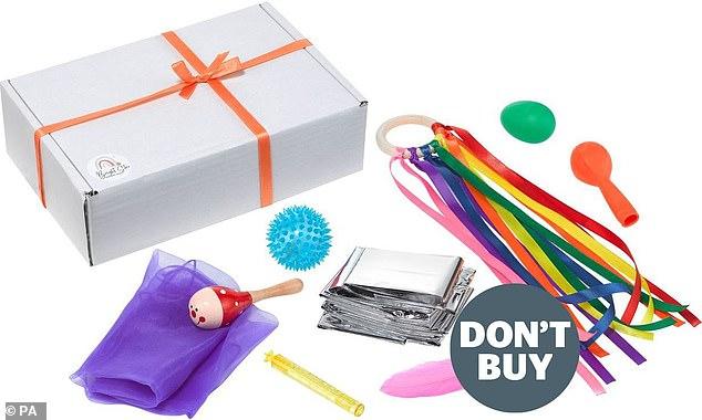 Pudełko sensoryczne dla dzieci sprzedawane na eBayu to jedna z zabawek, przed którymi firma ostrzegała rodziców