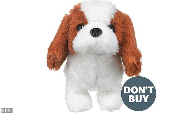 Zabawkowy pies sprzedawany na eBayu to jedna z zabawek, przed którymi firma ostrzegała rodziców