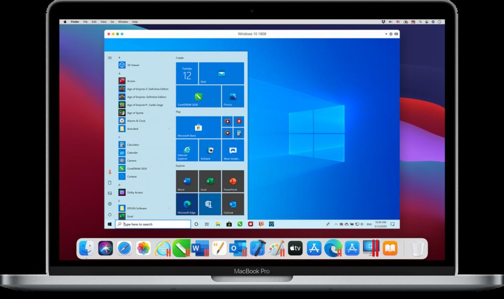 Parallel Desktop dla Mac 17 działa między Intel i M1 Divide